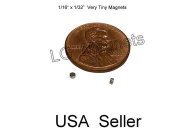 "500pcs Small Tiny Neodymium Disc Magnets 1/16""dia x 1/32"" thick Warhammer 40K"