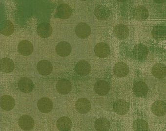 1/2 Yard - Grunge Hits the Spot - Vert - BasicGrey - Moda - Fabric Yardage - 30149 32