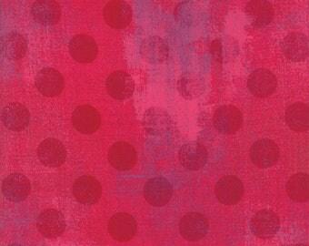 1/2 Yard - Grunge Hits the Spot - Raspberry - BasicGrey - Moda - Fabric Yardage - 30149 23