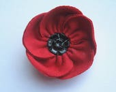 Remembrance poppy - donate to RBL, poppy brooch, Poppy Day, Royal British Legion, Veterans Day, red ladies brooch, vintage buttons