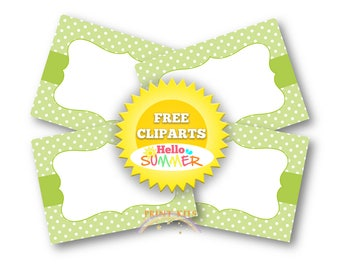 Lime Green Labels Candy Buffet Labels Party Editable Labels Printable Labels Lime Green Polka Dots Labels Tank You Tags Food Labels PK_DL415