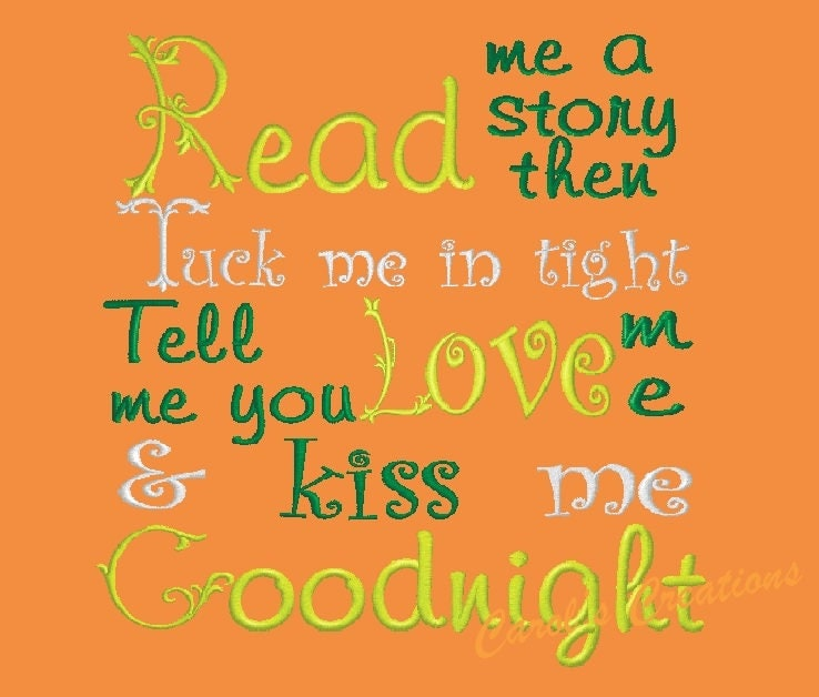 Reading pillow saying read me a story quotes