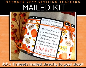 MAILED KIT - October 2017 Visiting Teaching, MAILED 8.5 x 11 sheets, Lds Relief Society