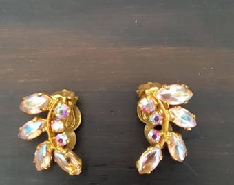 Amber Aurora Borealis Earrings