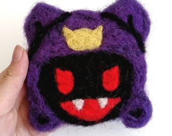 black Frost - Needle Felted Coaster - 4 inches (10.16cm)