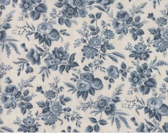 Snowberry Prints~Floral Delicate Sprays~Light Blue~Cotton Fabric~Moda~Fast Shipping F928