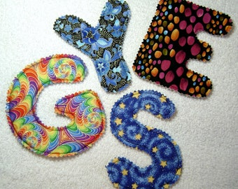 Fabric Alphabet Letters - Toys - Artsy Letters - L1