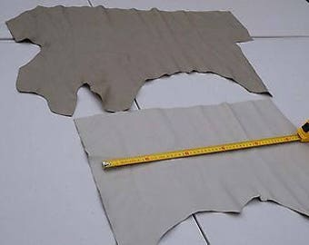 Beige Combo Cowhide 2 Craft panels/pieces 55 x 25 cm