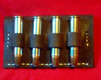 Leather Cartridge Belt slide holder, .45-70, .444, .450, .416, .458, .45 Colt, .410 four rounds