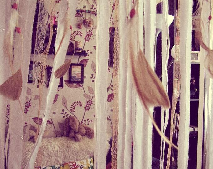 Bohemian Dreamcatcher Crib Mobile - Baby Crib Canopy - Feathers Mobile - Nursery Dreamcatcher - Boho Nursery Decor - Baby Bedding