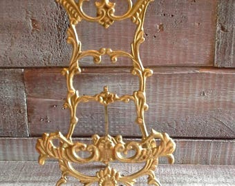 Vintage Brass Plate Stand