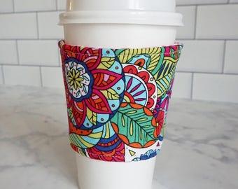 Reusable Coffee Sleeve-Coloring Book Print