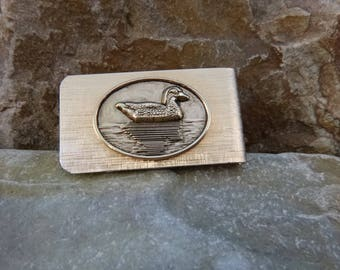 Duck on Water Nature Themed Vintage Money Clip