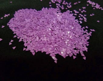 solvent-resistant glitter shapes-lavender triangles