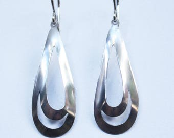 Silver Earrings: Almond Style