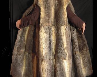 Real fur coat long vest casuable
