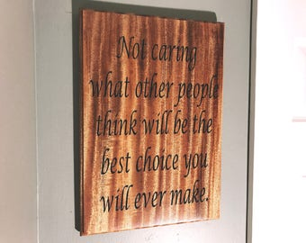 Entrepreneur, Motivational Quotes, Solid mahogany Plaques, Words of Wisdom, Personalized Carved plaques, Positive, inspirational signs,