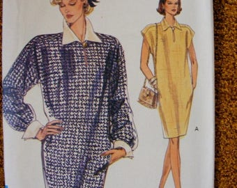 ON SALE 35% OFF Misses' One Piece Loose Fitting Dress Uncut Vogue Sewing Pattern 7996 Size 14 16 18