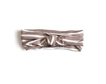 Sand Stripe Knotted Headband