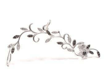 Zirkoniabesetzte Ivy ear cuffs - ear climber - ear crawler 925 sterling silver