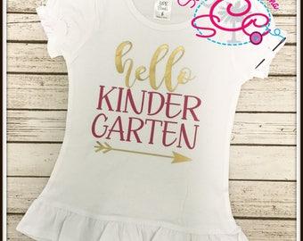 Hello Kindergarten Shirt