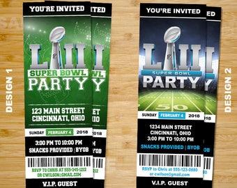 Superbowl Invitation Ticket