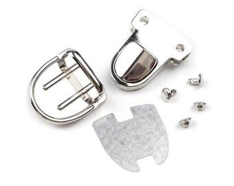 Satchel silver metal clasp