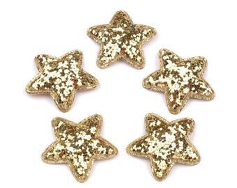 5 star glitter gold 35 mm