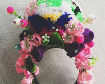 Pom Pom Flower Crown