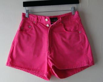 Pink denim shorts | Etsy