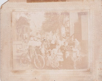 Antique Black Americana / African American  Cabinet Card Identified group