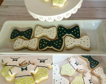 Onesie and Bowtie Cookies (One Dozen)