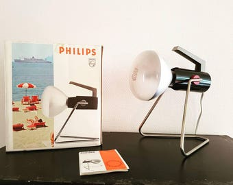 Original vintage Philips solar lamp with original packing.