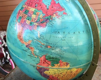 Vintage World Globe, Late 40's/Early 50's ? (Isreal formed,Korea still whole), Great Shape