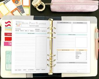 Printable Blog Post Planning Kit - Blog Planning Kit - Blogging Kit - Blog Post Planner - Blog Post Planner Bundle - Instant Download