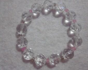 Clear Pink Bracelet