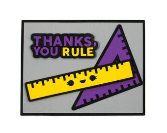 Thanks You Rule - Funny Thank You Card - Pun Thank You Card