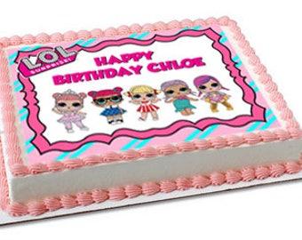 LOL dolls edible cake topper, LOL dolls cupcake topper, LOL dolls party, lol surprise dolls birthday, lol dolls cake, lol surprise doll cake