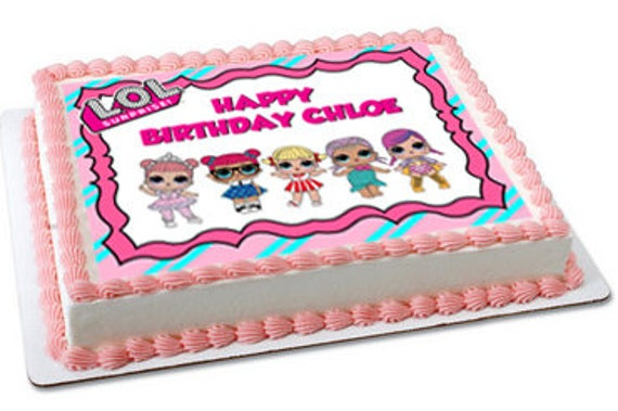 LOL dolls edible cake topper LOL dolls cupcake topper LOL