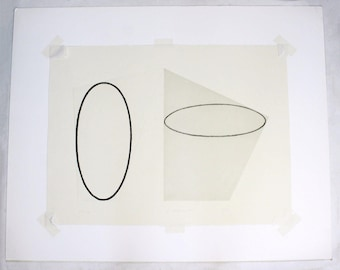 State of Color Unframed Etching Signed and Numbered Robert Mangold 57/75 1988