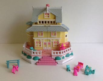 Vintage 1995 Bluebird POLLY POCKET Clubhouse Victorian Mansion