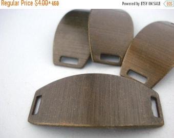 Summer Sale Rectangle Blanks, Bracelet Blanks, Vintaj RECTANGLE Bracelet Stamping Blanks Connector Pendants 42mm X 20mm Qty 1 to 4 Aged Soli