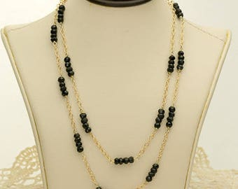 Black Onyx Necklace 37ct (B95N)