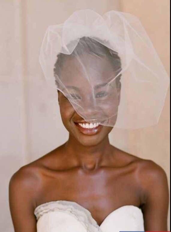 Veil , Short Veil, Tulle and Russian Net Shoulder Veil,  Bridal veil, Blusher veil, Russian Netting, Double Layer Russian veil