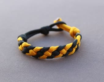 Black and Yellow Woven Paracord Bracelet