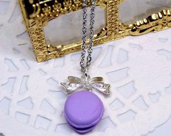 Necklace lilac macaron gourmand