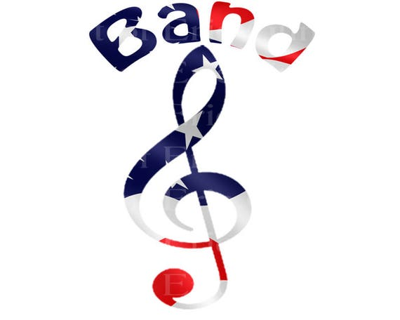 Band Music Notes Patriotic Birthday - Edible Cake and Cupcake Topper For Birthday's and Parties! - D22705