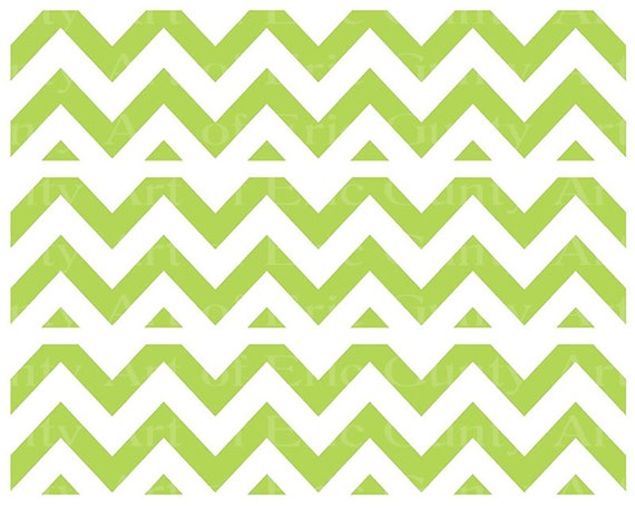 Green Chevron Birthday - Designer Strips - Edible Cake Side Toppers- Decorate The Sides of Your Cake! - D22893