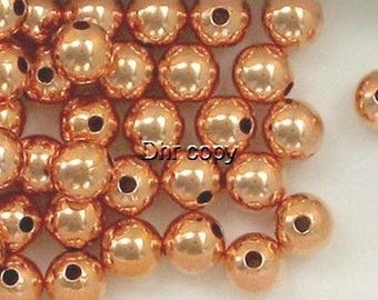 Solid  Copper 8mm Round Spacer Beads, Choice of Lot Size & Price