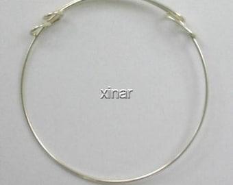 Sterling Silver Adjustable Bangle Cuff Bracelet